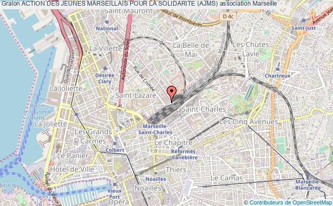 plan association Action Des Jeunes Marseillais Pour La Solidarite (ajms) Marseille