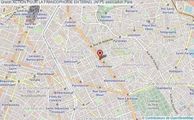 plan association Action Pour La Francophonie En Israel (afpi) Paris