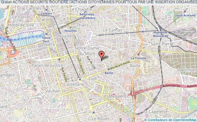 plan association Actions Securite Routiere (actions Citoyennnes Pour Tous Par Une Insertion Organisee Et Novatrice En Sensibilisation A La Securite Routiere) Marseille 5e
