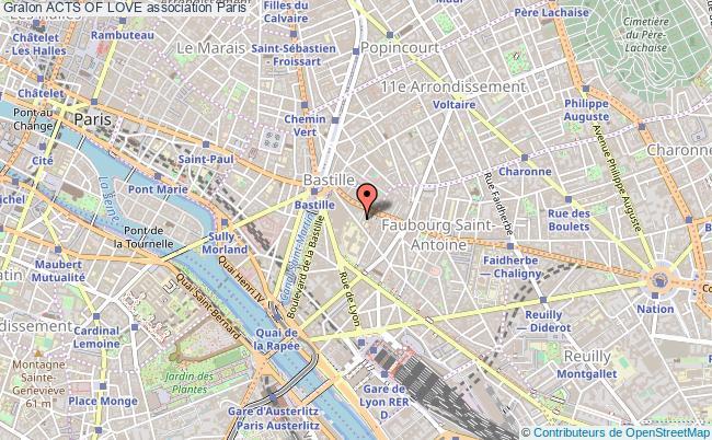 plan association Acts Of Love Paris 12e