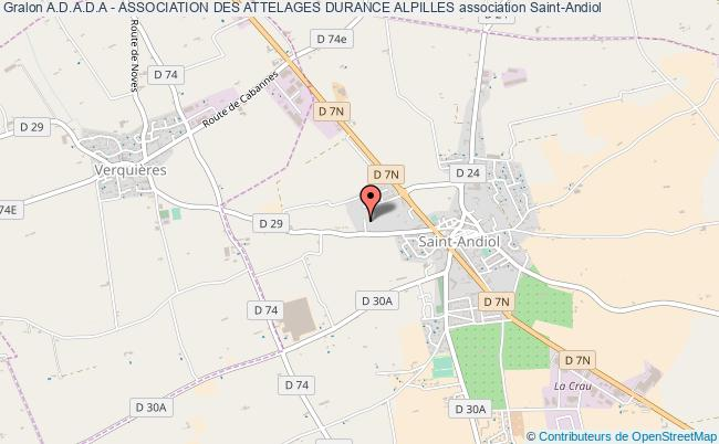plan association A.d.a.d.a - Association Des Attelages Durance Alpilles