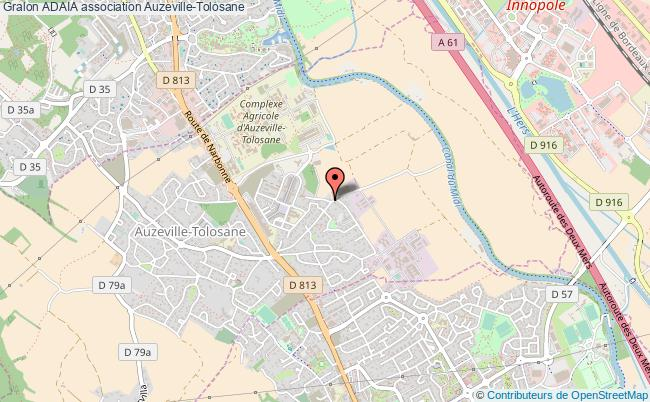 plan association Adaia Auzeville-Tolosane
