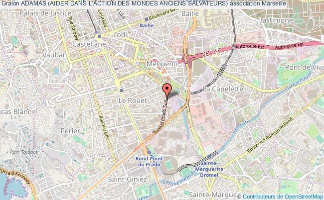 plan association Adamas (aider Dans L'action Des Mondes Anciens Salvateurs) Marseille