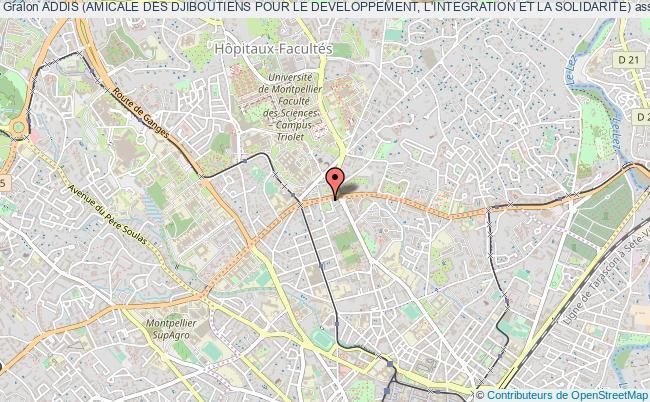 plan association Addis (amicale Des Djiboutiens Pour Le Developpement, L'integration Et La Solidarite) Poitiers