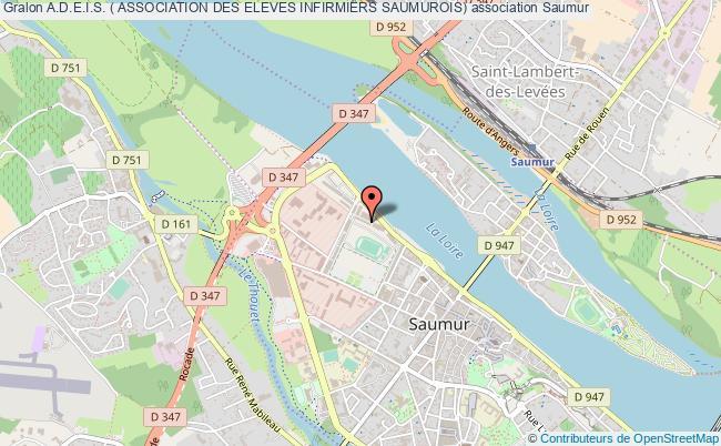 plan association A.d.e.i.s. ( Association Des Eleves Infirmiers Saumurois)