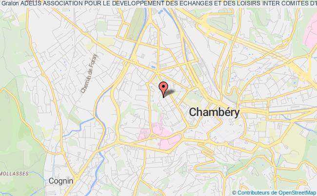 plan association Adelis Association Pour Le Developpement Des Echanges Et Des Loisirs Inter Comites D'entreprise En Savoie