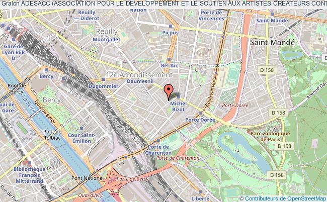 plan association Adesacc (association Pour Le Developpement Et Le Soutien Aux Artistes Createurs Contemporains)