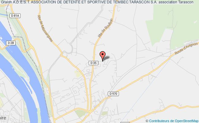plan association A.d.e.s.t. Association De Detente Et Sportive De Tembec Tarascon S.a.