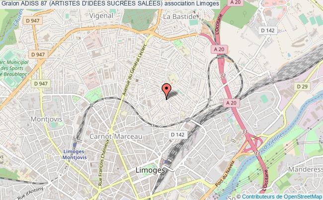 plan association Adiss 87 (artistes D'idÉes SucrÉes SalÉes)