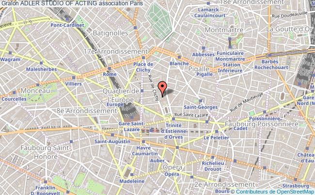 plan association Adler Studio Of Acting Paris