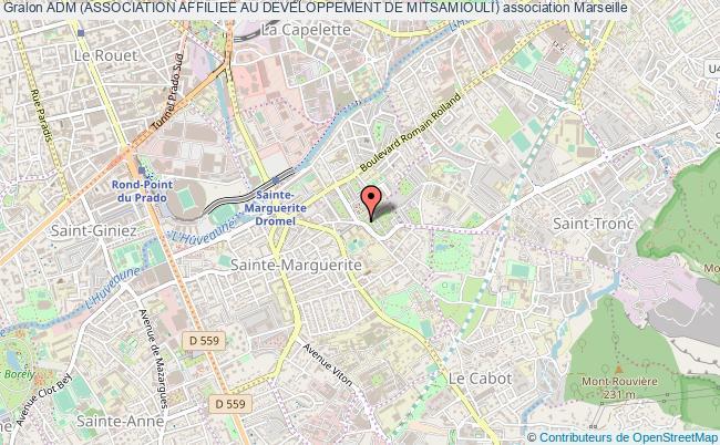 plan association Adm (association Affiliee Au Developpement De Mitsamiouli) Marseille
