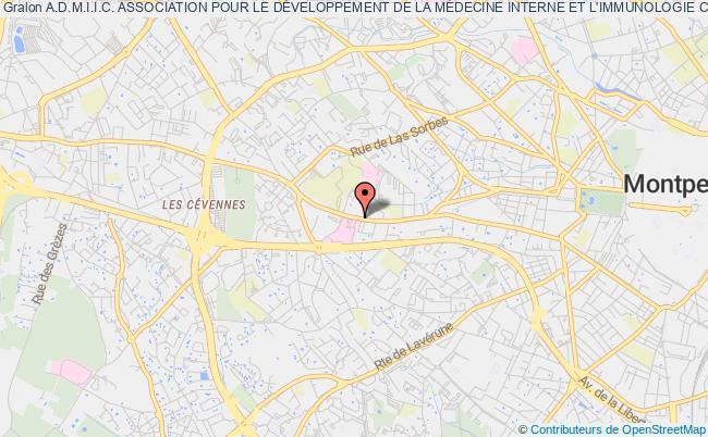 plan association A.d.m.i.i.c. Association Pour Le DÉveloppement De La MÉdecine Interne Et L'immunologie Clinique.