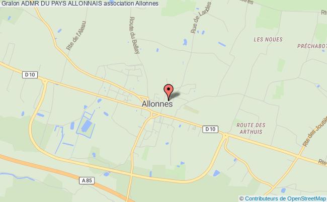plan association Admr Du Pays Allonnais