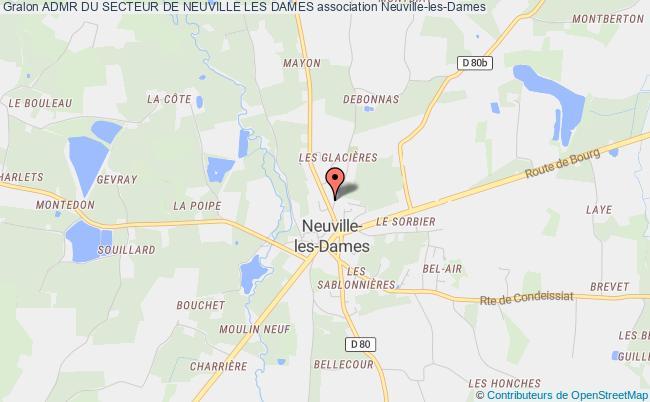 plan association Admr Du Secteur De Neuville Les Dames Neuville-les-Dames