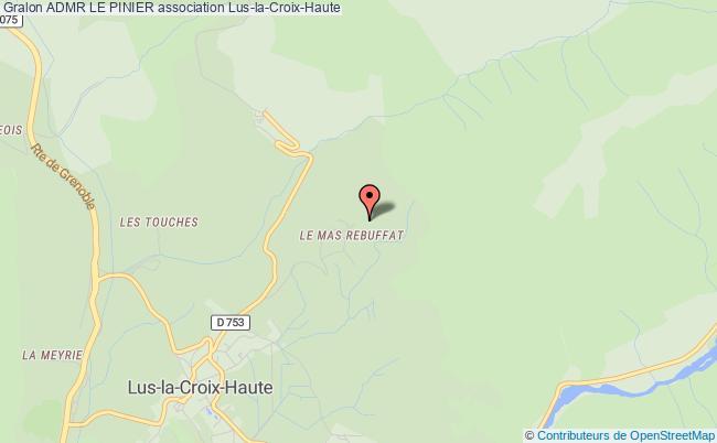 plan association Admr Le Pinier Lus-la-Croix-Haute