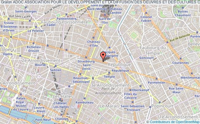 plan association Adoc Association Pour Le Developpement Et La Diffusion Des Oeuvres Et Des Cultures Creoles