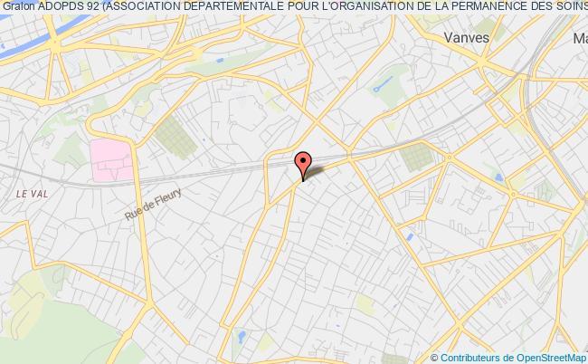 plan association Adopds 92 (association Departementale Pour L'organisation De La Permanence Des Soins Dans Le 92)