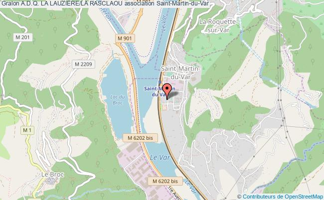 plan association A.d.q. La Lauziere/la Rasclaou