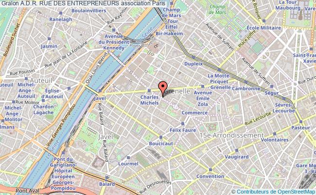 plan association A.d.r. Rue Des Entrepreneurs