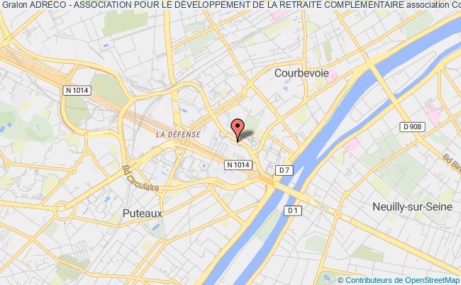 plan association Adreco - Association Pour Le DÉveloppement De La Retraite ComplÉmentaire Courbevoie