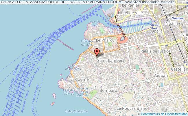 plan association A.d.r.e.s. Association De Defense Des Riverains Endoume Samatan