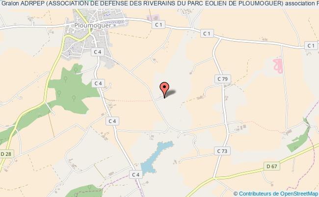 plan association Adrpep (association De Defense Des Riverains Du Parc Eolien De Ploumoguer)