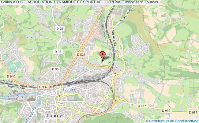 plan association A.d.s.l. Association Dynamique Et Sportive Lourdaise Lourdes