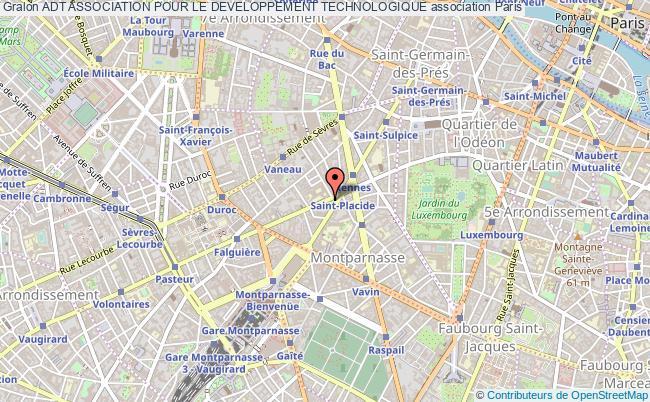 plan association Adt Association Pour Le Developpement Technologique Paris