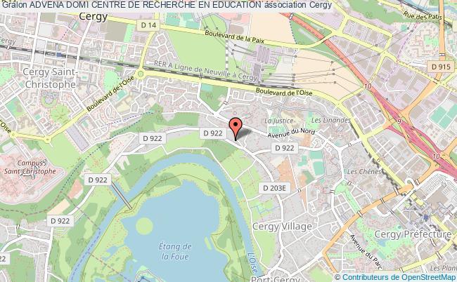 plan association Advena Domi Centre De Recherche En Education Cergy
