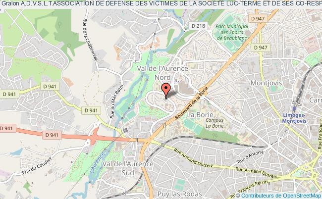 plan association A.d.v.s.l.t.association De Defense Des Victimes De La Societe Luc-terme Et De Ses Co-responsables