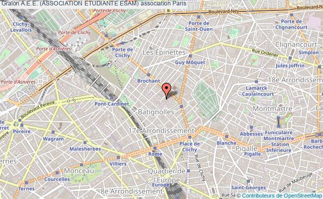 plan association A.e.e. (association Etudiante Esam) Paris