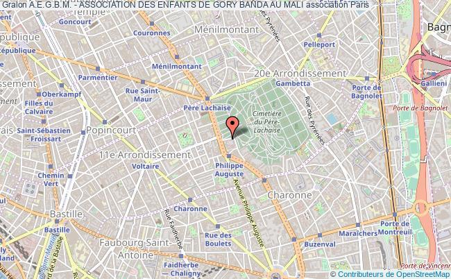 plan association A.e.g.b.m. - Association Des Enfants De Gory Banda Au Mali Paris