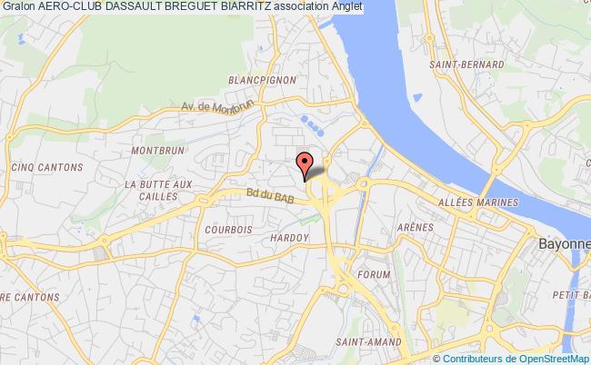 plan association Aero-club Dassault Breguet Biarritz
