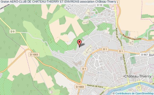 plan association Aero-club De ChÂteau-thierry Et Environs