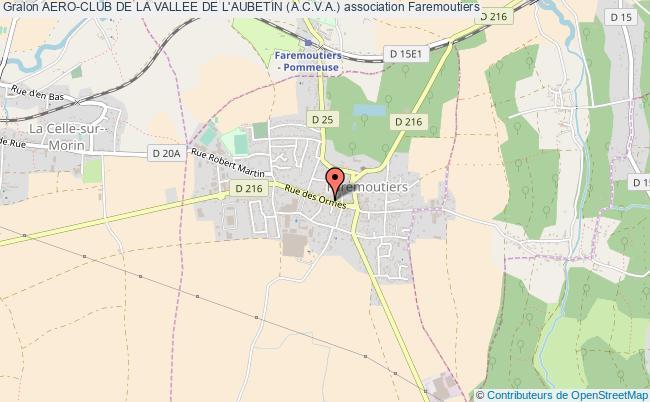 plan association Aero-club De La Vallee De L'aubetin (a.c.v.a.)