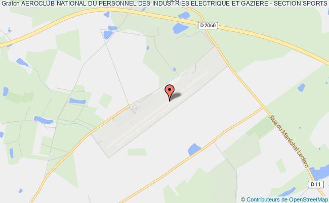 plan association Aeroclub National Du Personnel Des Industries Electrique Et Gaziere - Section Sports Aeriens Chartres - Orleans
