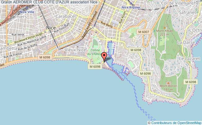plan association Aeromer Club Cote D'azur Nice