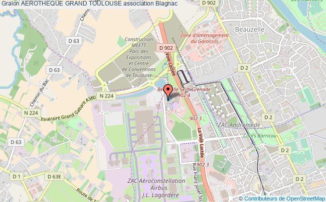 plan association Aerotheque Grand Toulouse