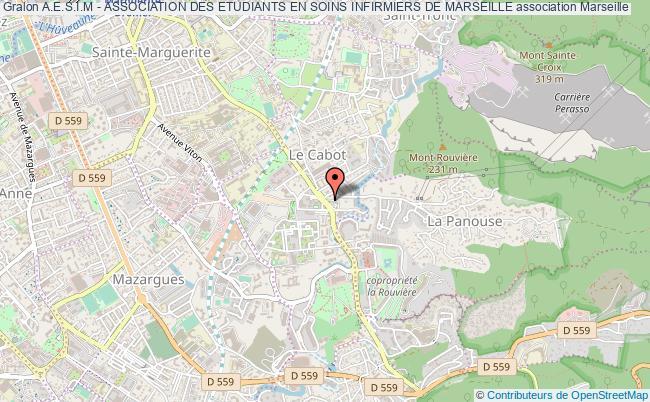 plan association A.e.s.i.m - Association Des Etudiants En Soins Infirmiers De Marseille Marseille