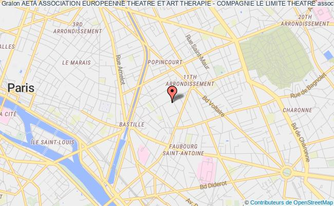 plan association Aeta Association Europeenne Theatre Et Art Therapie - Compagnie Le Limite Theatre