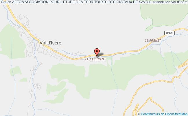 plan association Aetos Association Pour L'etude Des Territoires Des Oiseaux De Savoie