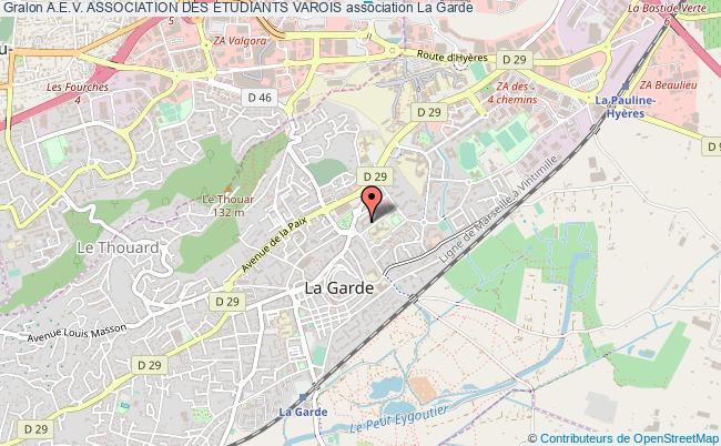 plan association A.e.v. Association Des Etudiants Varois