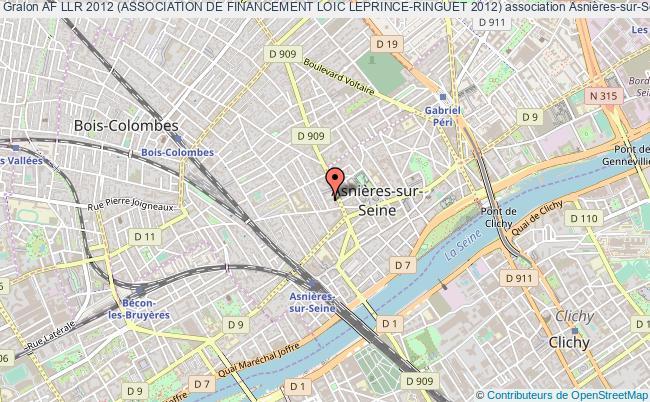 plan association Af Llr 2012 (association De Financement Loic Leprince-ringuet 2012) Asnières-sur-Seine
