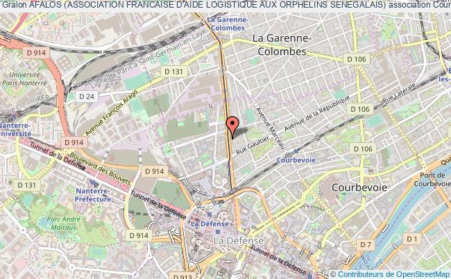 plan association Afalos (association Francaise D'aide Logistique Aux Orphelins Senegalais) Courbevoie