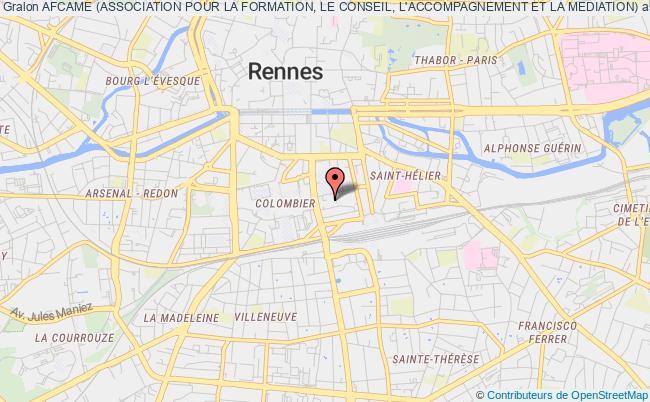 plan association Afcame (association Pour La Formation, Le Conseil, L'accompagnement Et La Mediation)