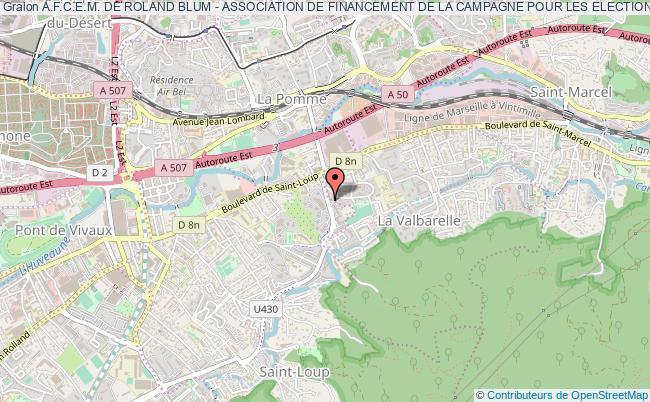 plan association A.f.c.e.m. De Roland Blum - Association De Financement De La Campagne Pour Les Elections Municipales De Roland Blum Dans Le 6eme Secteur De Marseille Marseille