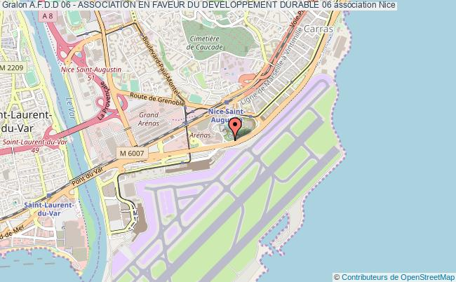 plan association A.f.d.d 06 - Association En Faveur Du Developpement Durable 06 Nice cedex 3