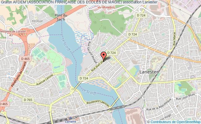 plan association Afdem (association FranÇaise Des Ecoles De Magie)
