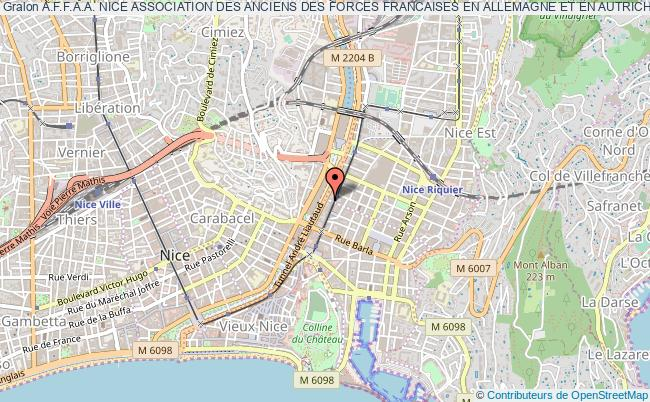 plan association A.f.f.a.a. Nice Association Des Anciens Des Forces Francaises En Allemagne Et En Autriche Nice