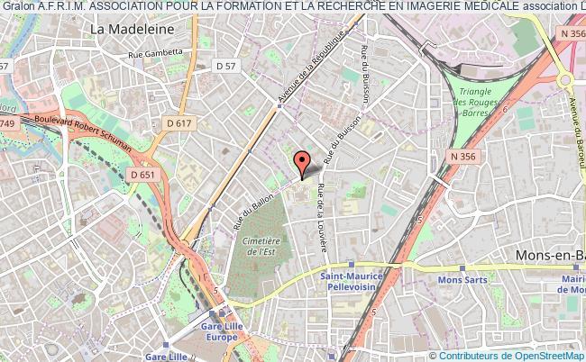plan association A.f.r.i.m. Association Pour La Formation Et La Recherche En Imagerie Medicale
